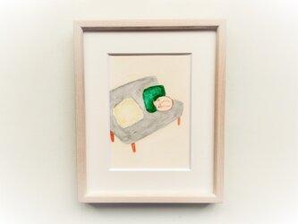 【受注制作】原画「お気に入りの場所」 水彩イラスト ※木製額縁入りの画像