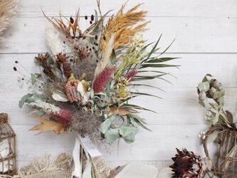 [風鳥]bouquet  ストレリチアが入ったブーケ  スワッグ パンパスグラス ドライフラワーブーケの画像