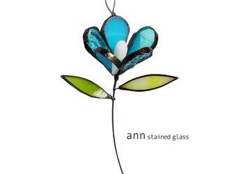 ステンドグラス 小花210717UBの画像
