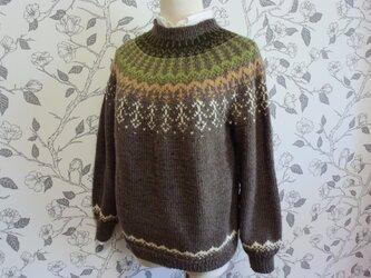 H様オーダーの多色のラインセーターの画像