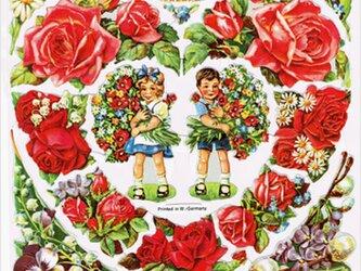 ドイツ製クロモス 花束を抱えた子供  ラメなし DA-CHR026(Made in Germany)の画像