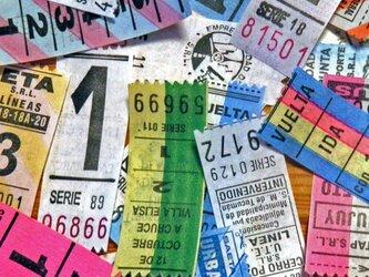 アルゼンチンVintageバスチケット【Argentina】12枚ミックスアソートセットDA-BTA075の画像