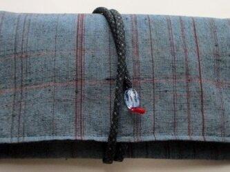 5747 紬の着物で作った和風財布・ポーチ #送料無料の画像