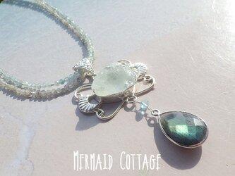 *sv925*Ocean Goddess 海の女神の首飾り☆アクアマリン原石&ラブラドライトの画像