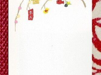 【手摺り木版画はがき】 餅枝の画像