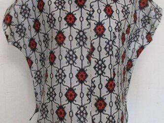 5750 銘仙の着物で作ったTシャツ #送料無料の画像
