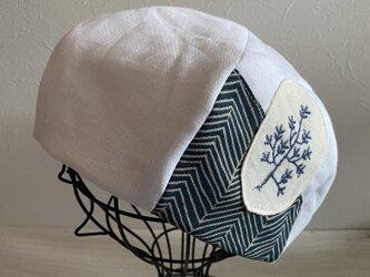 TOPI 白いリネンのベレー帽(58〜60)の画像