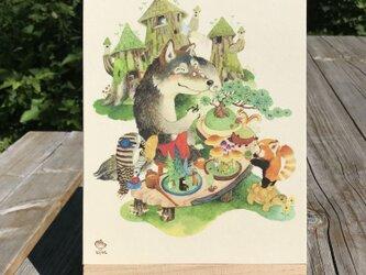「趣味の盆栽」 24x18cm パネルの画像