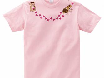 猫Tシャツ<ネックレスシリーズ>「ハートがいっぱい」の画像