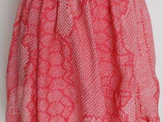 5754 絞りの羽織で作ったミニスカート #送料無料の画像