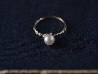 あこや真珠のリング・K10の画像
