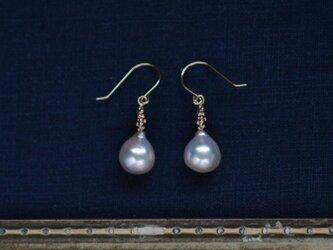 あこや真珠のピアス・K10の画像