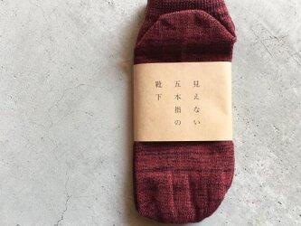 見えない五本指の靴下 ANKLE REDの画像
