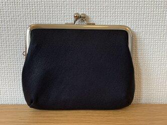 【送料無料】四角い本革親子がまぐちミニ財布の画像