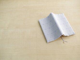 手織りブックカバー(新書)ブルーフラワーの画像