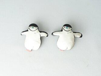ヒゲペンギン 漆ブローチの画像