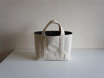 TOTE BAG -bicolor- (M) / ecru × chocolateの画像