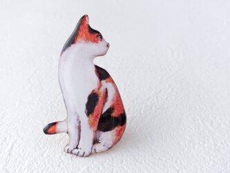 気になる三毛猫のブローチの画像