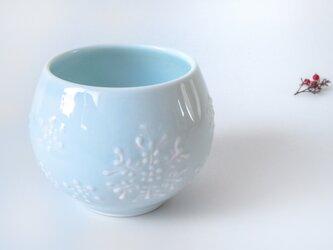 ✤新作家✤:青磁結晶紋 丸々カップ:の画像