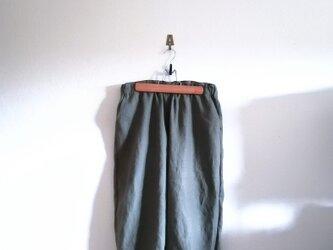 真夏のリネンのつぼみパンツ*裾ゴム*フリーサイズの画像