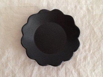 花小皿 黒マットの画像