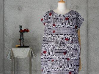 着物リメイク 浴衣のチュニックブラウス/フリーサイズの画像