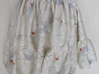 5759 千両の柄の着物で作ったミニスカート #送料無料の画像