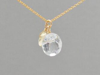 天然石アクアマリンとレモンクォーツのネックレス14KGF/TWINKLEの画像