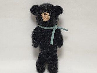 小さな黒クマさん(あみぐるみ)の画像