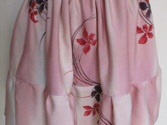 5762 花柄の着物で作ったミニスカート #送料無料の画像