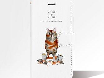 Original手帳型iPhoneケース「トラになりたいネコ」の画像