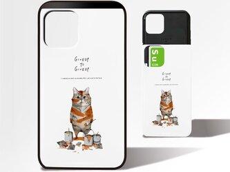 「トラになりたいネコ」ICカード収納付きiPhoneケースの画像