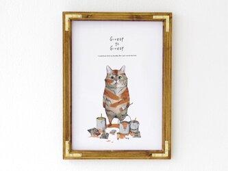 A3ポスター「トラになりたいネコ」の画像