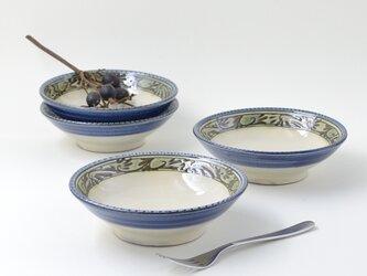 緑釉唐草文深皿(コバルトライン)の画像