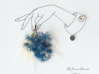 Wire Wall Art  Bouque ( Blue&White ) 選べる袖ボタンの画像