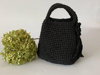 裂き編みバッグ スクエアSーMサイズの画像