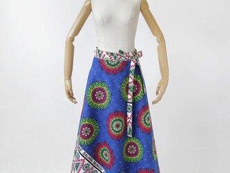 カンガの巻きスカート アフリカ布スカート / ロング / マキシ丈の画像