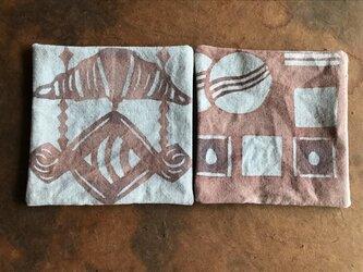 パンとクッキーのコースター2枚セット bの画像