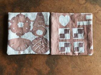 パンとクッキーのコースター2枚セット cの画像
