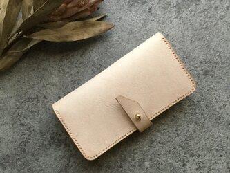 イタリアンレザーiPhoneケース/Ivory/flap beltの画像