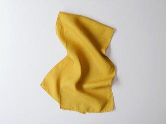 エシカルヘンプスクエアストール 植物染め黄色 Sサイズの画像