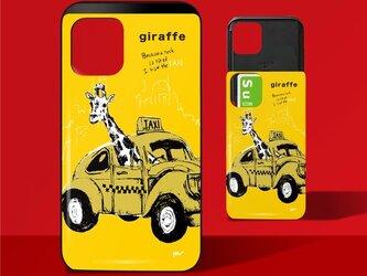 「TAXI」ICカード収納付きiPhoneケースの画像