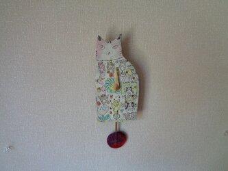 振り子時計 ネコ の画像