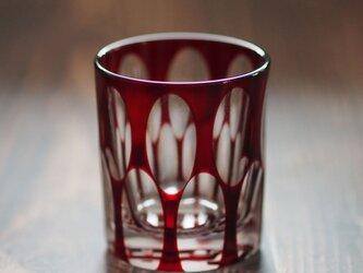 切子ショットグラス「Alfa Romeo GTA1600」銅赤の画像