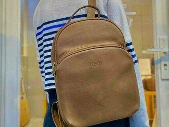 リュック レザー バッグ 鞄 レディース IPAD A4 防水 プレゼントの画像