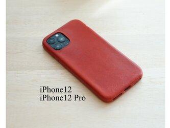 【新作】1枚革で作るiPhone12/12Pro カバー ケース 【選べる革】【名入れ可】の画像