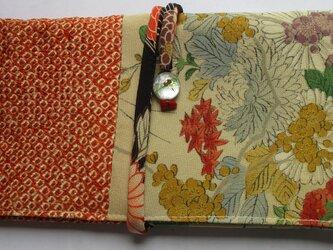 5770 絞りと花柄の着物で作った和風財布・ポーチ#送料無料の画像
