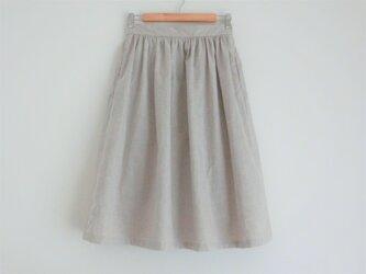 コットンリネン ギャザースカートの画像