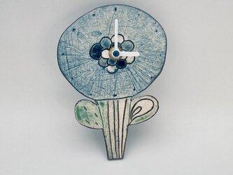 はな時計・ブルー(掛け時計)の画像