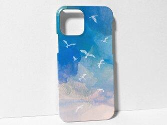 iphone【空と鳥】スマホケースの画像